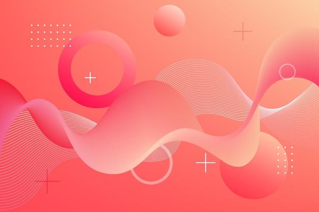 Wellenförmiger hintergrund mit rosa farbverlauf