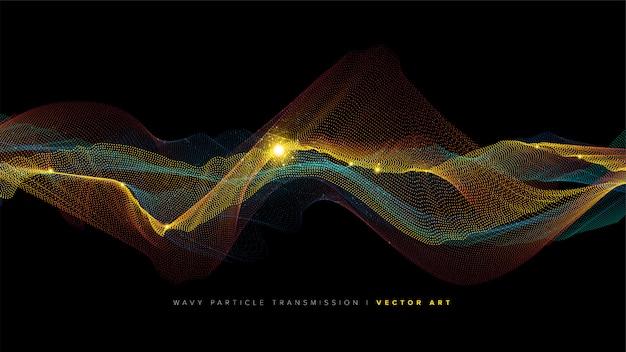 Wellenförmiger partikeleffekt