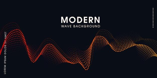 Wellenförmiger partikelhintergrund der abstrakten musik