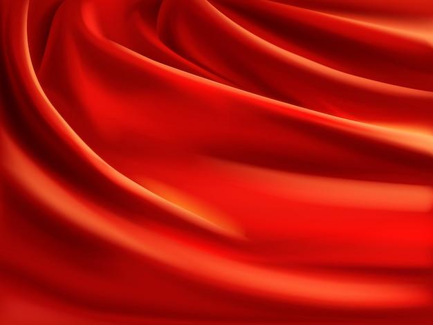 Wellenförmiger roter satin