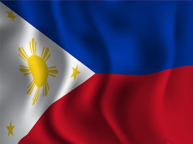 Wellenförmiger stil der philippinen-flagge für den tag der unabhängigkeit