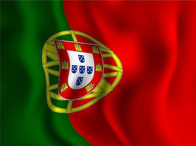 Wellenförmiger stil der portugiesischen flagge für den tag der unabhängigkeit
