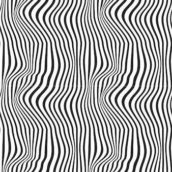 Wellenförmiges abstraktes nahtloses hintergrundmuster. schwarz und weiß. wellen
