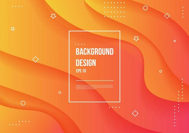 Wellenförmiges geometrisches mit flüssigem designhintergrund. trendige farbverlaufsformen zusammensetzung