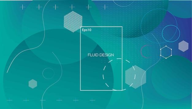 Wellenförmiges geometrisches mit flüssigem hintergrund