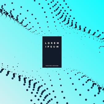 Wellenförmiges hintergrundvektordesign der eleganten partikel