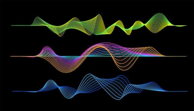 Wellenform des digitalen musik-players