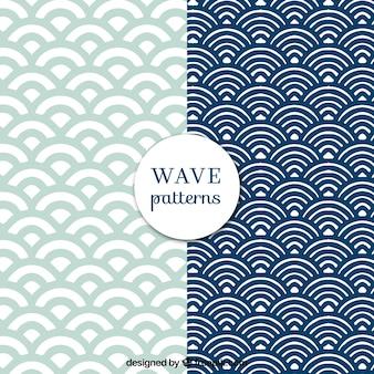 Wellenmuster mit runden formen