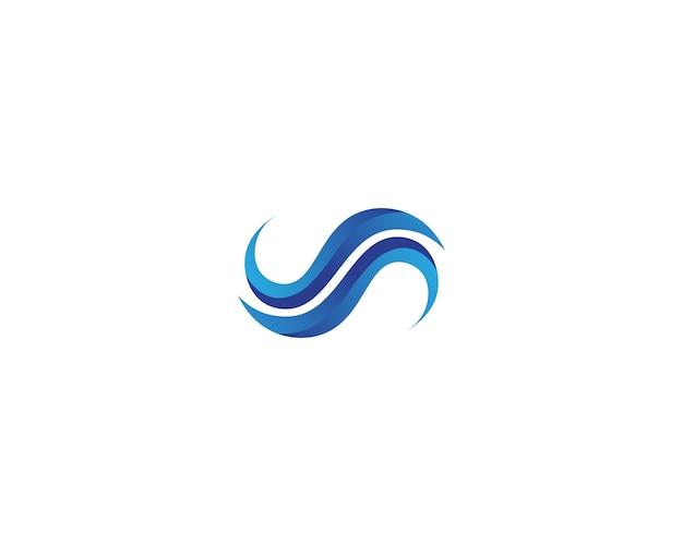 Wellenstrandlogo und symbolschablonenikonen-app