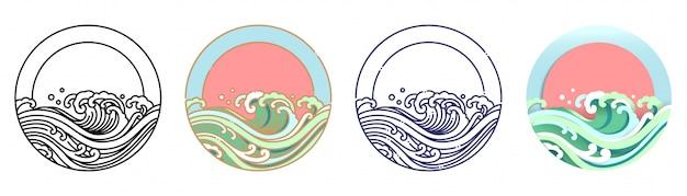 Wellenwasser und sonne.