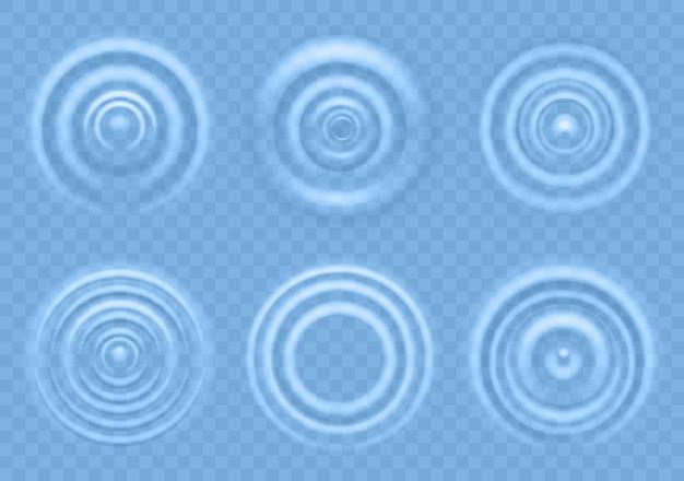 Welligkeit auf blauer wasserillustration