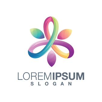 Wellness abstrakte farbverlauf logo-design