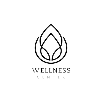 Wellness center design logo vektor