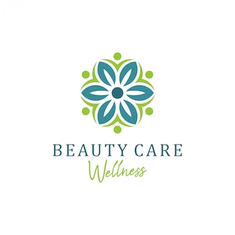 Wellness-logo mit schlichtem und klarem, modernem design und elegantem liniendesign für yoga-massagen oder wellness