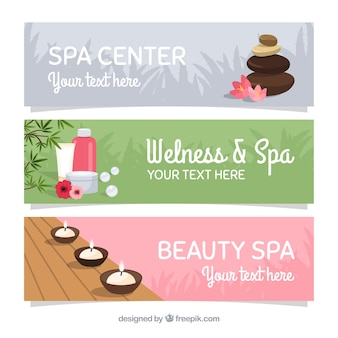 Wellness- und spa-banner