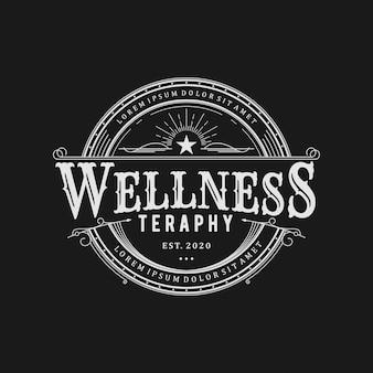 Wellness yoga spa massage resort logo vorlage