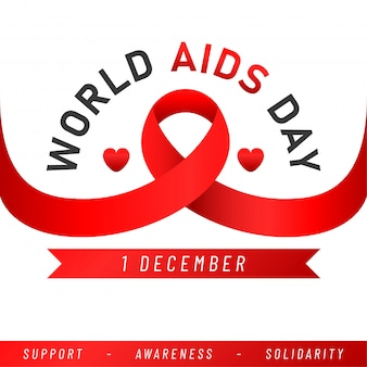 Welt-aids-tag. aids awareness red ribbon.