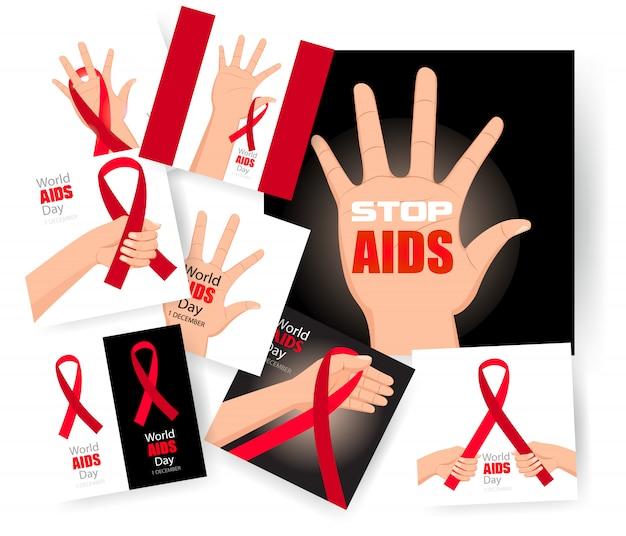 Welt-aids-tag einstellen