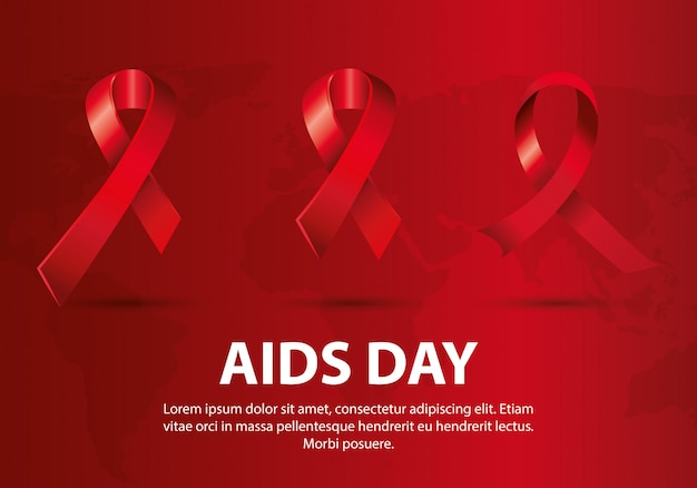Welt-aids-tag mit bändern