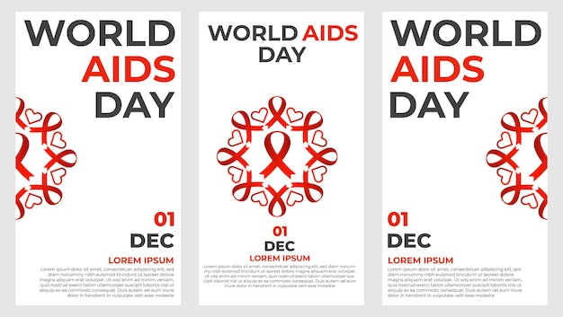 Welt-aids-tag-social-media-geschichtensammlung