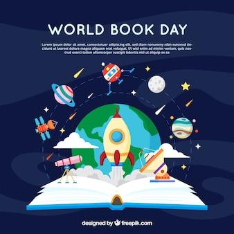 Welt-Buch-Tag-Hintergrund