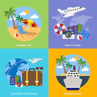 Welt des tourismus-konzepts