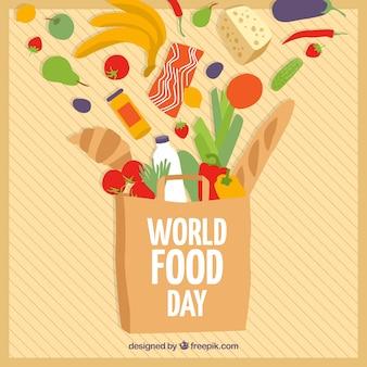 Welt essen tag hintergrund design