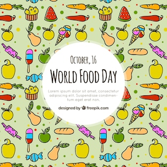 Welt essen tag muster hintergrund