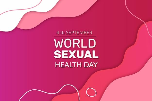 Welt flüssiger stil des tages der sexuellen gesundheit