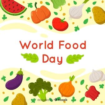 Welt-food-tag-hintergrund-design