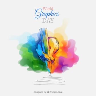 Welt-Grafik-Tag-Hintergrund