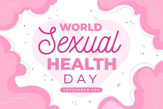 Welt hintergrund der sexuellen gesundheit tag