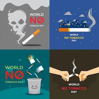 Welt keine tabak-tagesillustration