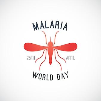 Welt malaria tag vektor banner.