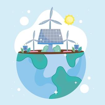 Welt mit nachhaltiger energie