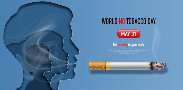 Welt no tobacco day banner design
