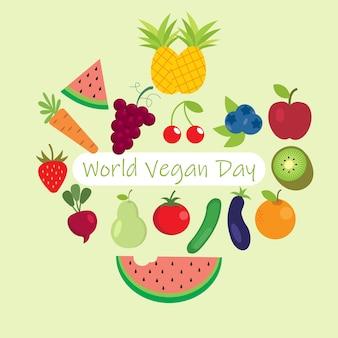 Welt veganer tag