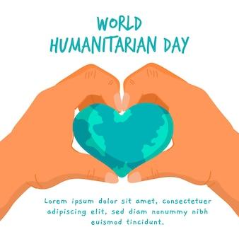 Weltauslosung zum humanitären tag