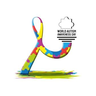 Weltautism awareness day design