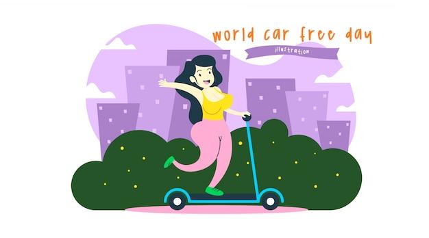 Weltautofreier tagesillustration