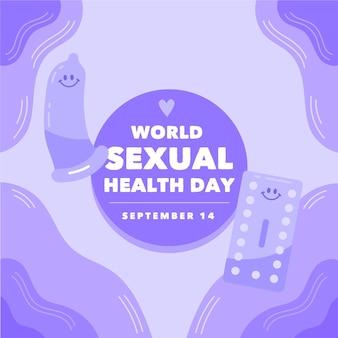 Weltbanner für den tag der sexuellen gesundheit