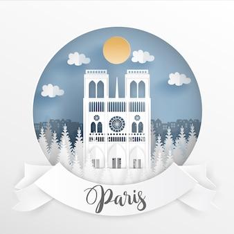 Weltberühmtes wahrzeichen von paris, frankreich