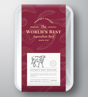 Weltbeste rindfleisch abstrakte kunststoffschale behälterabdeckung.