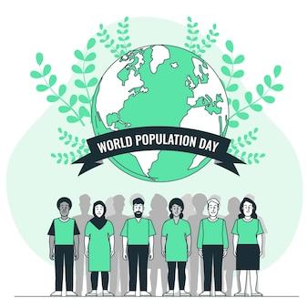 Weltbevölkerungs-tageskonzeptillustration