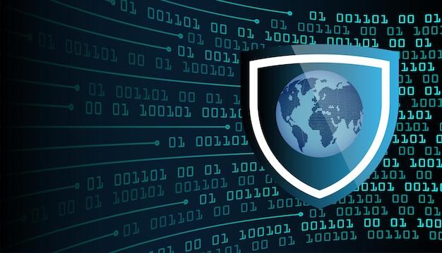 Weltbinärplatine zukunftstechnologie, blue hud cyber security konzept hintergrund