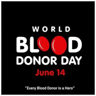 Weltblutspendetag 14. juni typogrpahy