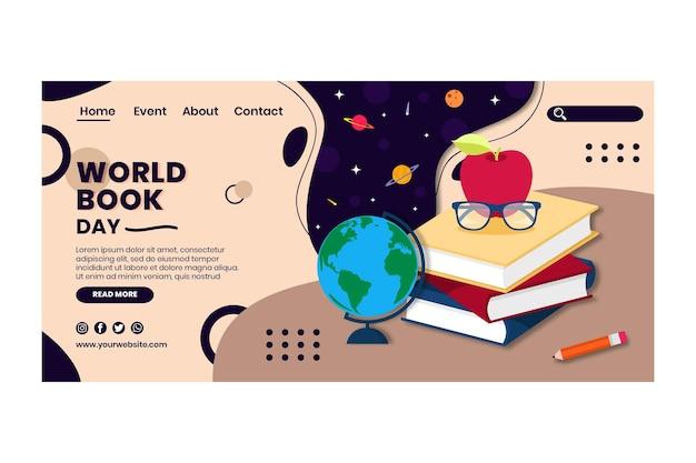 Weltbuch tag landingpage vorlage
