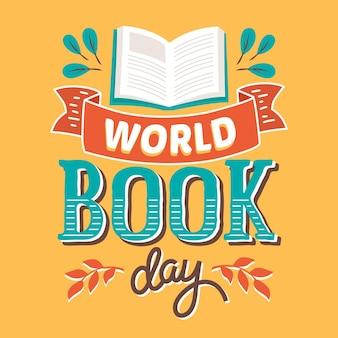 Weltbuch tag schriftzug