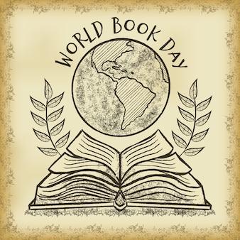 Weltbuchtag in der hand gezeichnet