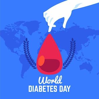 Weltdiabetestag des flachen entwurfs